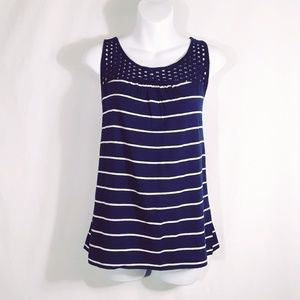 Old Navy Tops - Old Navy Stripe Striped Crochet Tank Top